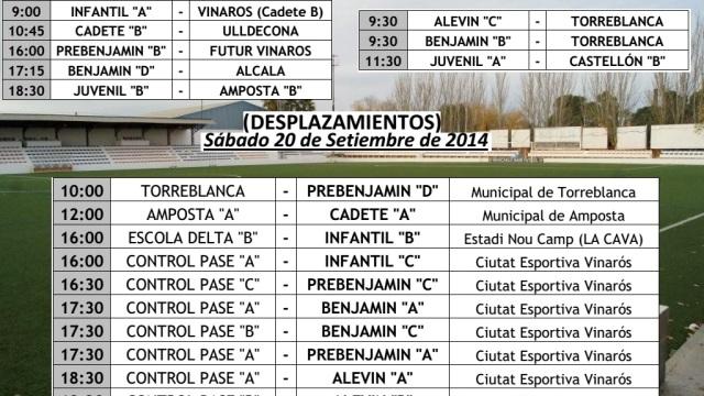 partidos fin de semana 20-21 SEP 2014